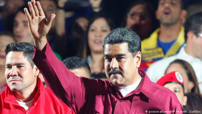 Venezuela Wahlen - Nicolas Maduro (picture-alliance/AP Photo/A. Cubillos)