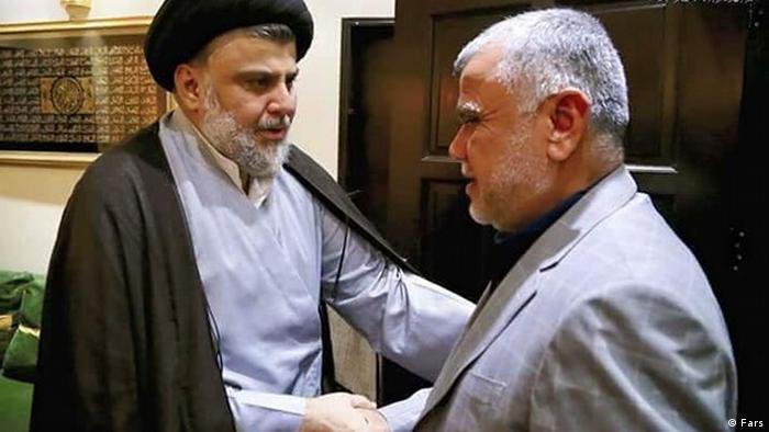 Treffen zwischen Sadr und Ameri. Irakische Politiker. (Fars)