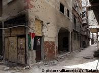 Вулиця в районі табору Ярмук на півдні Дамаска