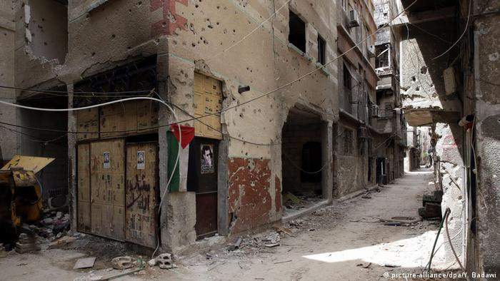 The remains of Yarmouk refugge camp