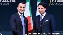 Italien Luigi de Maio und Giuseppe Conte
