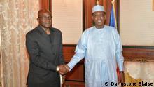 UNDR Präsident Saleh Kebzabo und Präsident Idriss Déby Itno von Tschad einfügen wollen.