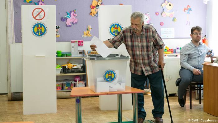 Republik Moldau Bürgermeisterwahl in Chisinau (DW/E. Covalenco)