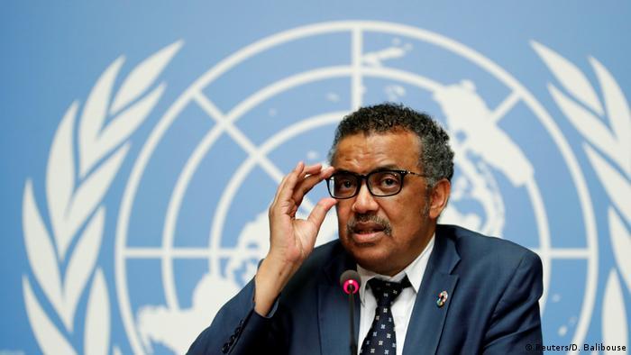 Genf Tedros Adhanom Ghebreyesus, Generealdirektor WHO | Ebola-Ausbruch Kongo (Reuters/D. Balibouse)