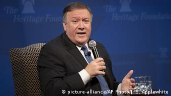 Mike Pompeo US Außenminister (picture-alliance/AP Photo/J. S. Applewhite)