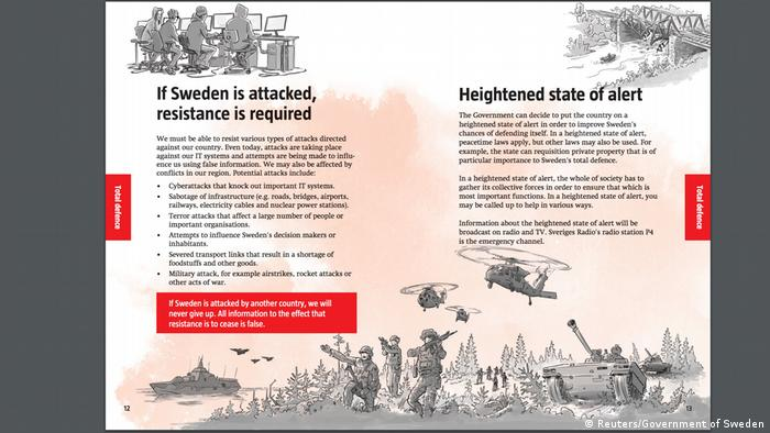Sweden issues Cold War-style conflict guide to residents