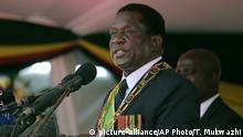 Simbabwe Unabhängigkeitsfeier Präsident Emmerson Mnangagwa