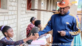 Burundi Verfassungsreferendum   Präsident Pierre Nkurunziza