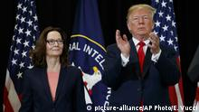USA Donald Trump Vereidigung Gina Haspel (picture-alliance/AP Photo/E. Vucci)