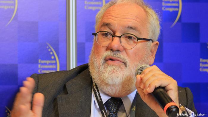 EU-Kommissar für Energie und Klima Miguel Arias Cañete auf dem 10. Europäischem Wirtschaftskongress in Kattowitz