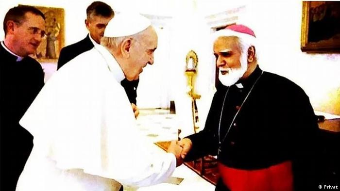 Joseph Coutts with Pope Francis at the Vatican