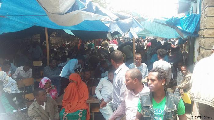Äthiopien Somalia Vertriebene Menschen