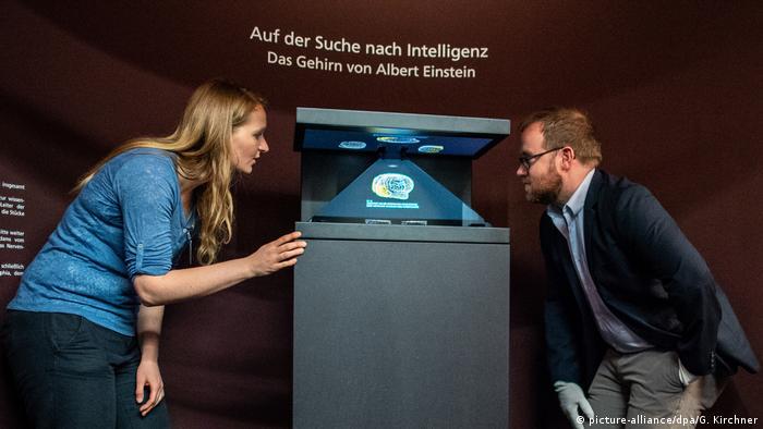 Ausstellung zeigt Teile von Albert Einsteins Gehirn
