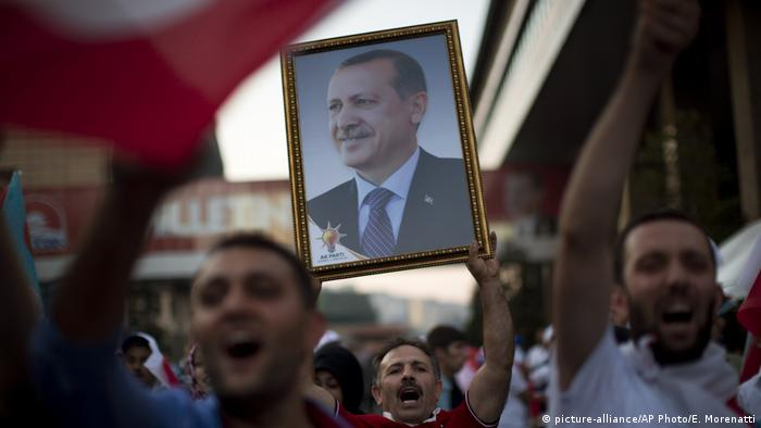 Supporters rally for Turkey's Recep Tayyip Erdogan