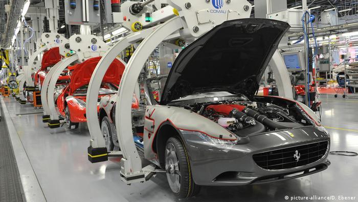 Italien Wirtschaft - Luxusartikel - Ferrari Produktion