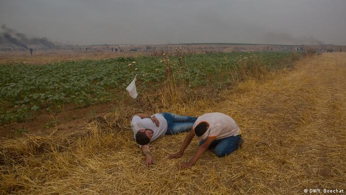 Feridos em Gaza