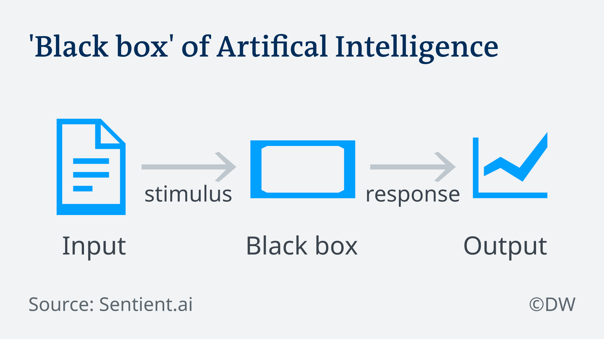 Infographic illustrating how black box AI works