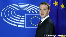 Brüssel EU-Parlament | Mark Zuckerberg, Facebook-CEO