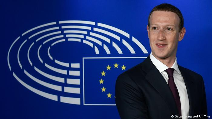 Brüssel EU-Parlament | Mark Zuckerberg, Facebook-CEO (Getty Images/AFP/J. Thys)