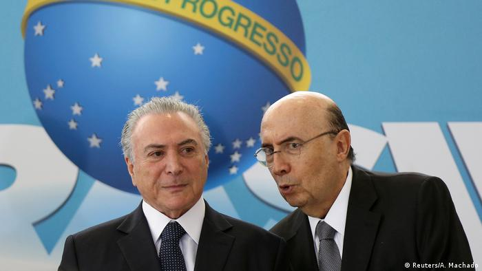 Brasilien Präsident Michel Temer & Finanzminister Henrique Meirelles (Reuters/A. Machado)