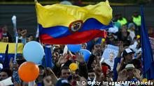 Kolumbien Bilder vom beginnenden Wahlkampf Wahlkampfauftakt