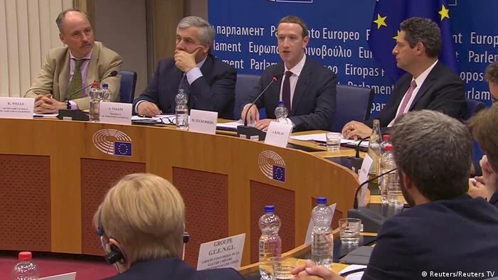 Brüssel EU-Parlament | Mark Zuckerberg, Facebook-CEO