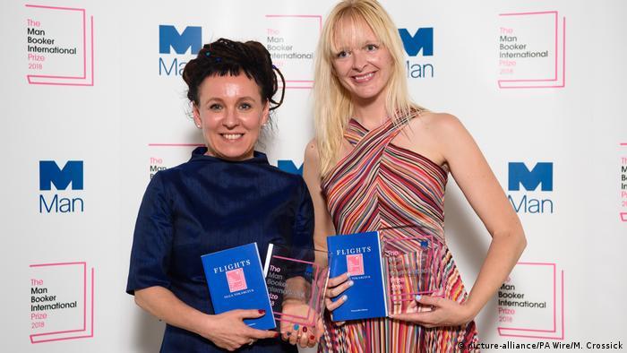 Großbritannien London Olga Tokarczuk und Jennifer Croft (picture-alliance/PA Wire/M. Crossick)