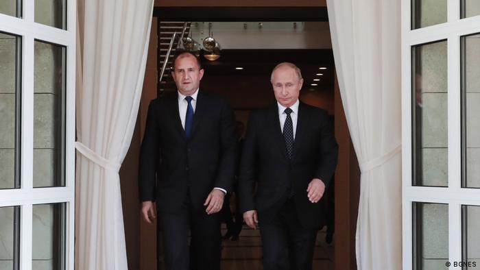 Präsident Rumen Radev und Rußlands Präsident Vladimir Putin in Sochi