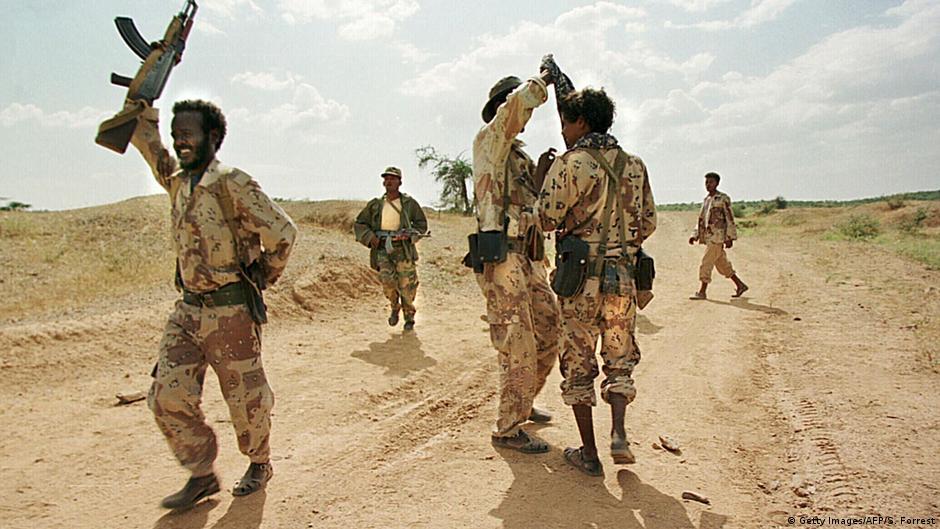 Eritrea Soldaten beim Training im Grenzkrieg mit Äthiopien 1999