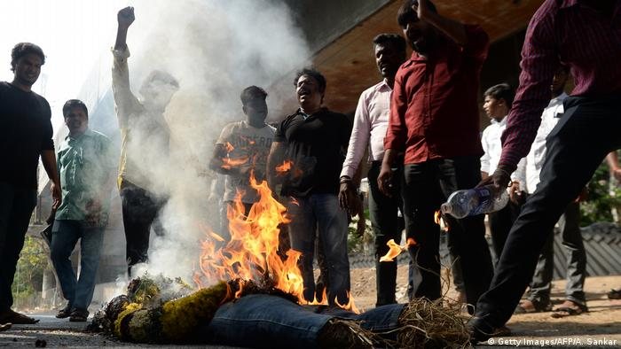 Indien - Protestkundgebung in Chennai (Getty Images/AFP/A. Sankar)
