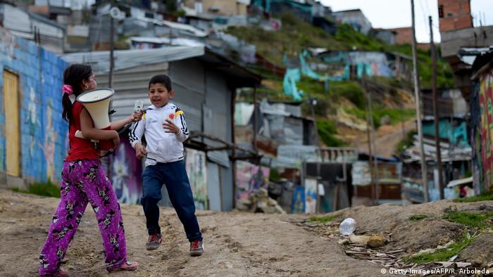Kolumbien Wahlen - Slums im Süden Bogotas (Getty Images/AFP/R. Arboleda)