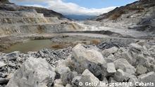 Talkum-Steinbruch 1800 Metern Höhe bei Luzenac, Südfrankreich