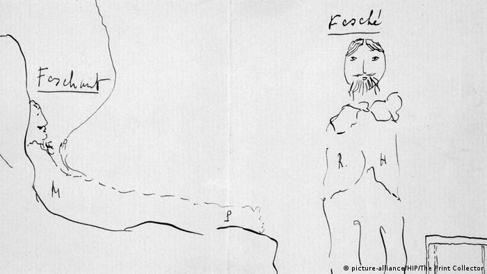 A drawing by Marcel Proust (picture-alliance/HIP/The Print Collector)
