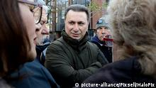 28.11.2017., Skopje, Macedonia - VMRO-DPMNE leader Nikola Gruevski joined the protest outside the Criminal Court, where several thousand citizens protest against the act of the Public Prosecutor's Office to charge 36 people with terrorism in connection to the events of 27 April in Parliament. Gruevski is accompanied by the entire parliamentary group of VMRO-DPMNE and the leadership of the party. Earlier in a statement, Gruevski called for unconditional release of the detained people. Photo: HaloPix/PIXSELL |