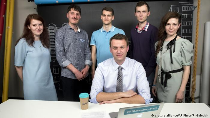 Alexei Navalny and his team at the Anti-Corruption Foundation in 2017