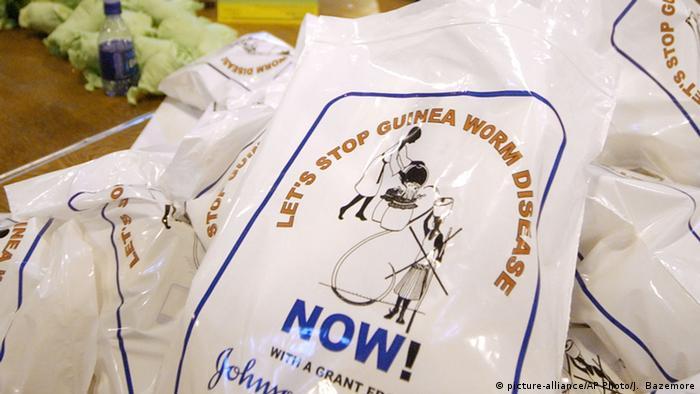 Parasit Guinea-Wurm (picture-alliance/AP Photo/J. Bazemore)