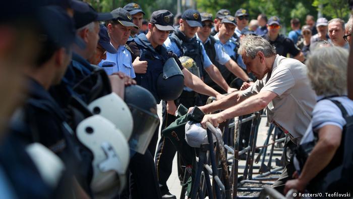 Mazedonien Protest nach Urteil gegen Nikola Gruevski in Skopje