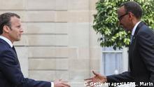 Frankreich Präsident Emmanuel Macron & Paul Kagame, Präsident Ruanda