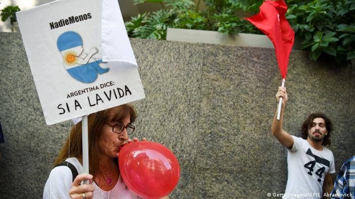 Manifestación antiabortista en Buenos Aires.