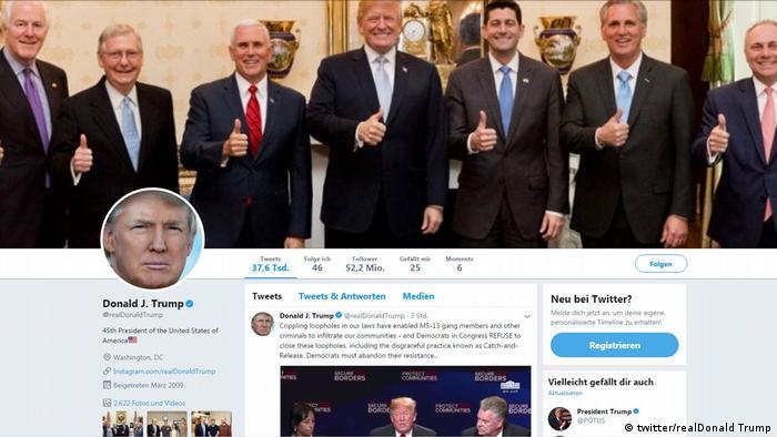 أكثر من 30.5 مليون شخص يتتبعون حساب ترامب على تويتر