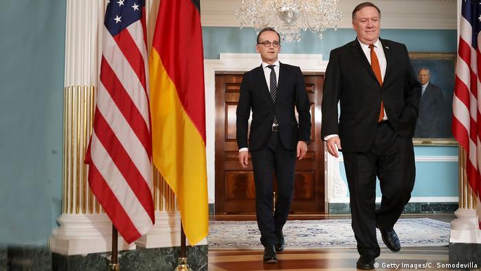 USA | Außeminister Maas und Pompeo (Getty Images/C. Somodevilla)
