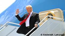 USA | US-Präsident Donald Trump am JFK-Flughafen