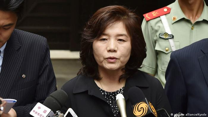 Nordkorea | Diplomatin Choe Son Hui (picture alliance/Kyodo)