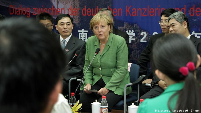 Chinareisen von Bundeskanzlerin Angela Merkel (picture-alliance/dpa/P. Grimm)
