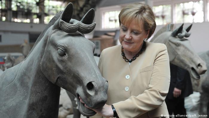 Chinareisen von Bundeskanzlerin Angela Merkel (picture-alliance/dpa/R. Jensen)
