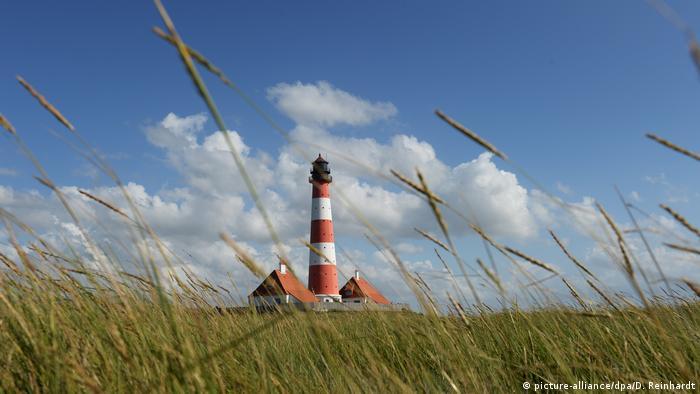 Deutschland Nationalpark Wattenmeer Leuchtturm Westerheversand, Schleswig-Holstein
