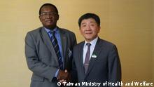 May 21 Taiwan minister of Ministry of Health and Welfare Shih-Chung Chen meets his counterpart from Federation of Saint Kitts and Nevis.