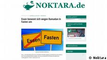 Screenshot Webseite Noktara