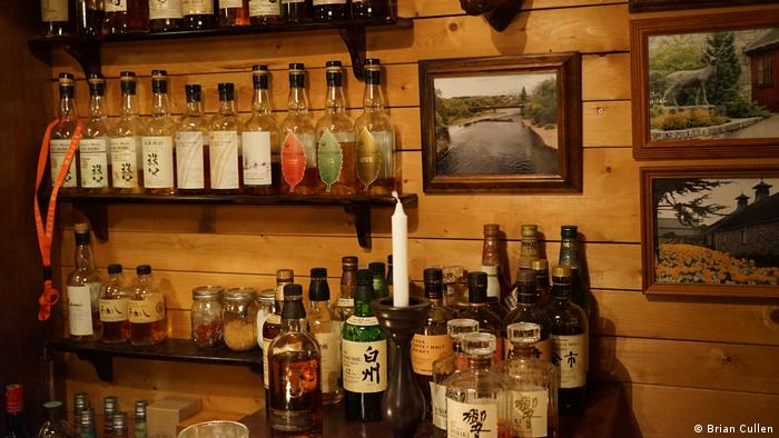 A collection of Japanese whiskies