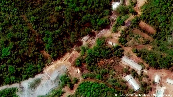 Nordkorea Atomtestgelände Punggye-ri (Reuters/2018 DigitalGlobe, a Maxar company)